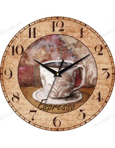 """Годинник настінний """"Espresso & brick"""""""