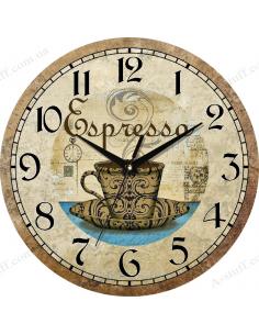 """Clock for wall """"Espresso"""""""