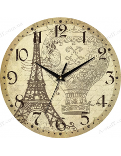 "Clock for wall ""The Eiffel Tower and the Balloon"""