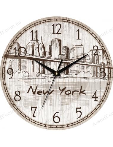 """Годинник настінний """"New York"""""""