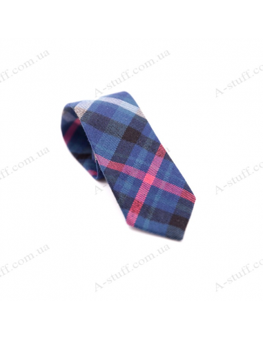 "Children's tie ""Blue rhombus"""