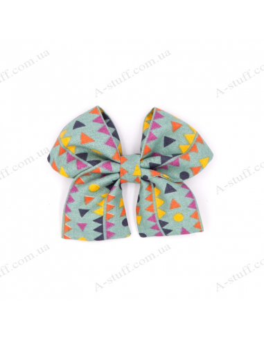 "Hair bow ""Color Geometry"""