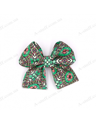 "Hair bow ""Green abstraction"""