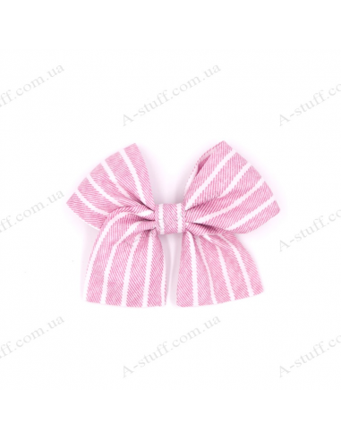 "Hair bow ""Pink striped"""