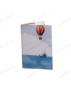 "Cover on the passport  ""On the balloon"""