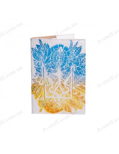 """Обкладинка на паспорт """"Квітковий герб"""""""