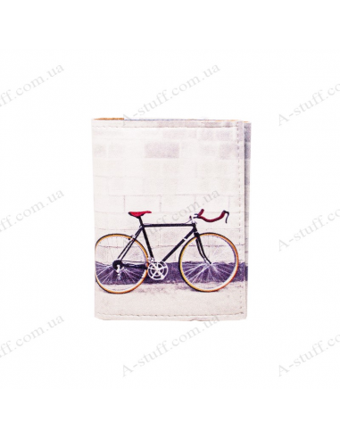 "Card holder of eco-leather ""Bicycle"""