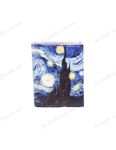 "Card holder of eco-leather ""Van Gogh"""