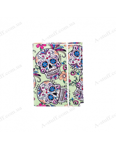 "Card holder of eco-leather ""Skull"""