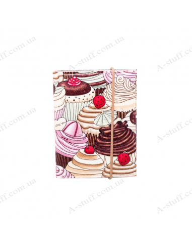 "Card holder of eco-leather ""Cakes"""
