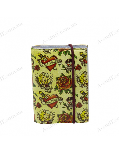 "Card holder of eco-leather ""Tattoo"""