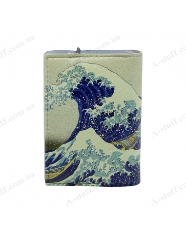 "Card holder of eco-leather ""Japanese Wave"""