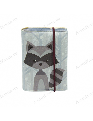 "Card holder of eco-leather ""Raccoon + Fox"""