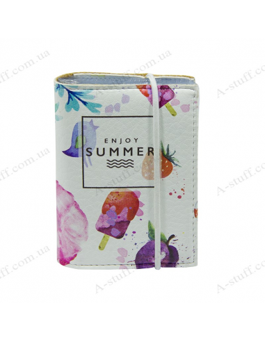 "Card holder of eco-leather ""Summer"""
