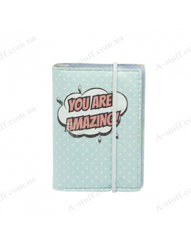 "Card holder of eco-leather ""You are amazing"""