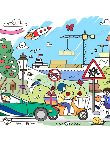 """Pocket Coloring """"Autopark"""""""
