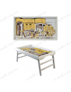 """Table - tray for breakfast """"Yellow mood"""""""