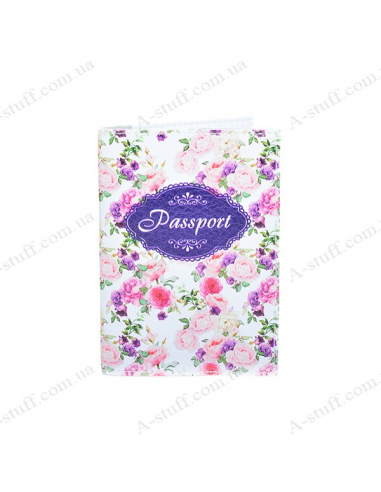 """Cover on the passport eco-leather """"Vintage Rose"""""""