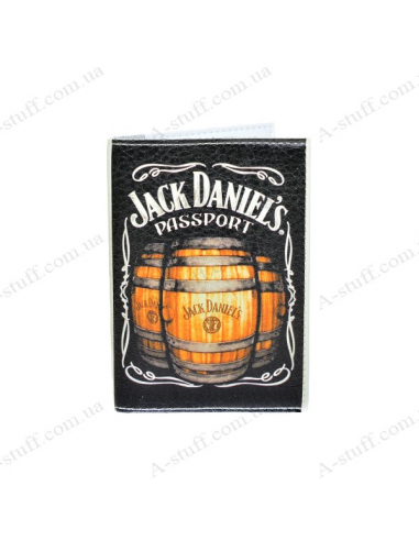 """Cover on the passport eco-leather """"Jack barrel"""""""
