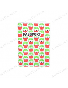 """Cover on the passport eco-leather """"Hedgehogs"""""""