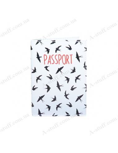 """Cover on the passport eco-leather """"Swallows"""""""