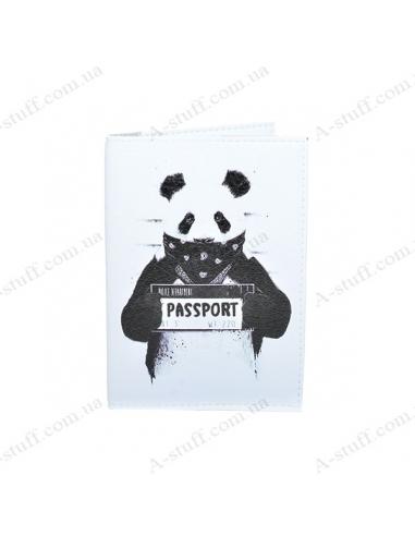 """Обкладинка на паспорт екошкіра """"Панда"""""""