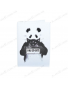 """Cover on the passport eco-leather """"Panda"""""""