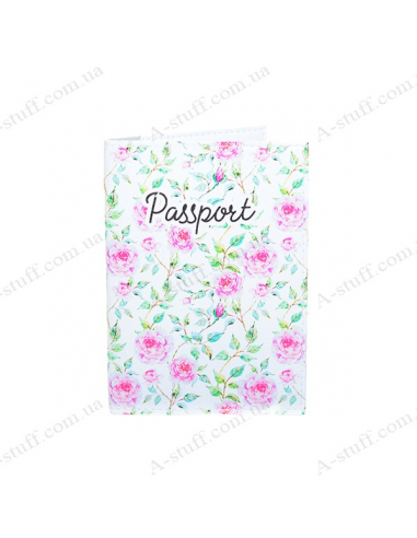 """Cover on the passport eco-leather """"Delicate roses"""""""