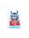 """Cover on the passport eco-leather """"Raccoon"""""""