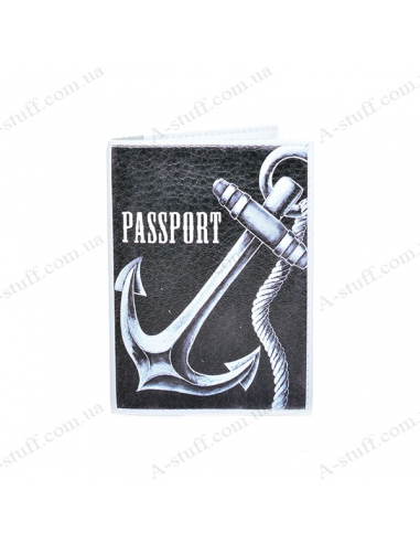 """Cover on the passport eco-leather """"Anchor 1"""""""