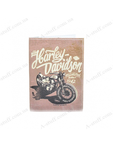 """Cover on the passport eco-leather """"Harley"""""""