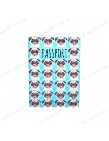"""Cover on the passport eco-leather """"Pugs"""""""