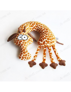 "Pillow in the car ""Giraffe Evgraf"""
