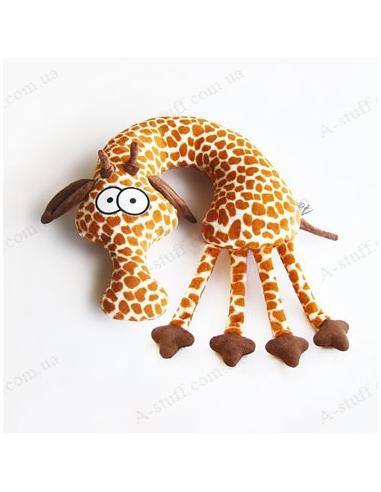 "Pillow in the car ""Giraffe Evgraf"""