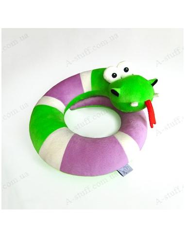 """Подушка для подорожей """"Змійка Лазівка"""""""
