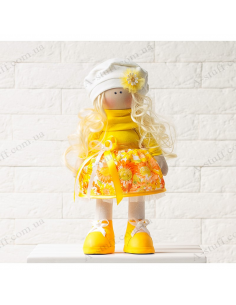 "Textile doll ""Charlin"""