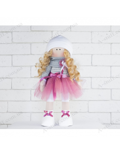 "Textile doll ""Stephanie"""