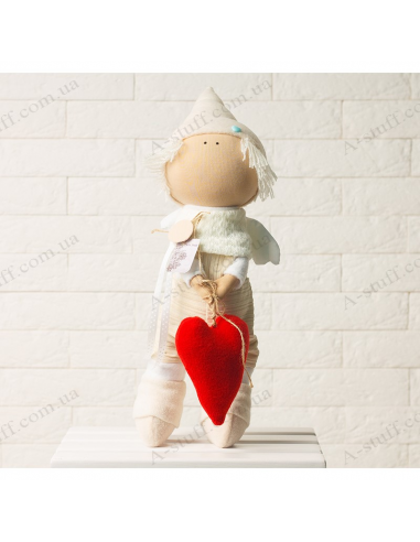 "Textile doll ""Cupid"""