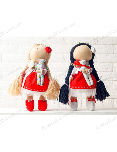 "Textile dolls ""The Blonde and the Brunette"""