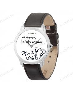 "Wristwatch ""I am late white"""