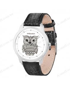"""Годинник наручний """"Орнаментна сова"""""""