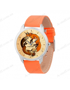 "Wristwatch ""Two Foxes"""