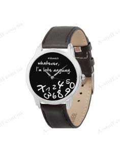 "Wristwatch ""I am late blue"""