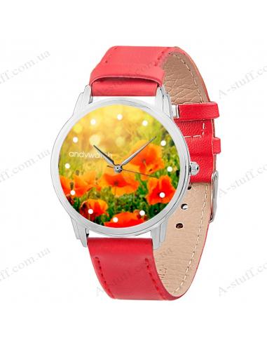 """Wristwatch """"Poppies"""""""