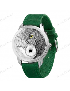 "Wristwatches ""Owls Yin-Yang"""