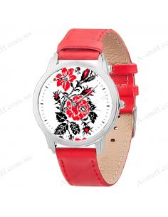 """Годинник наручний """"Квіти вишиванки"""""""