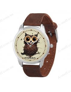 """Wristwatch """"Owl of coffee"""" 2"""