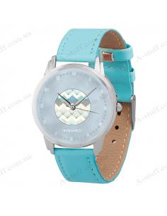 """Годинник наручний """"Блакитний візерунок"""""""