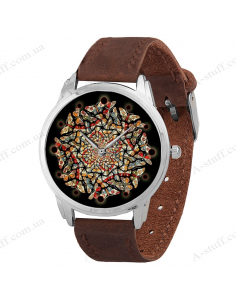 """Wristwatch """"Abstract of butterflies"""""""