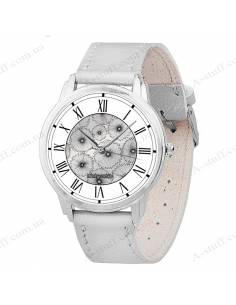 "Wristwatch ""Silver Flowers"""